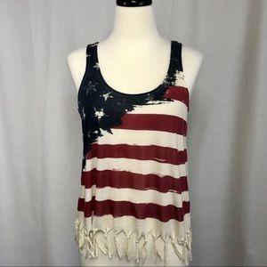 ☀️ USA Flag Boho tank
